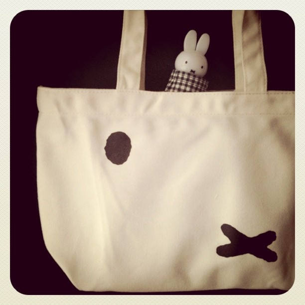 Miffy inspired tote bag. #greetingsfromnl