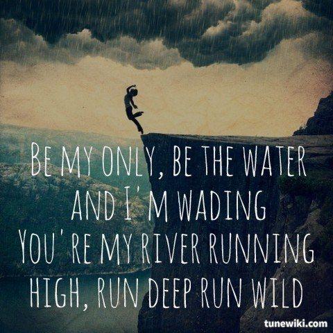 "-- #LyricArt for ""I Follow Rivers"" by Lykke Li"