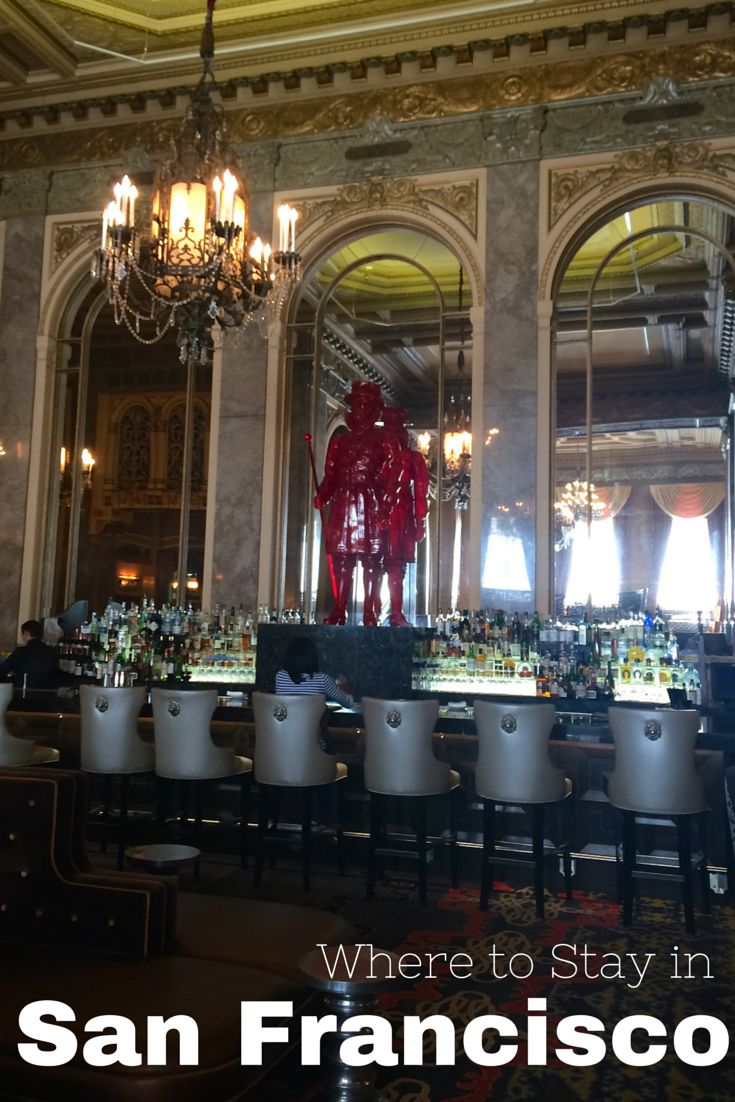 Where to Stay in San Francisco, California - Union Square Edition. My favorite hotels and how to find a great deal; including the Sir Francis Drake as pictured above.