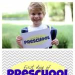 """Free """"First Day of School"""" Printables"""