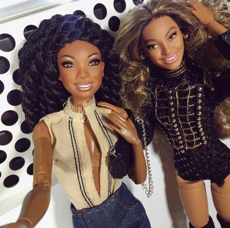 Brandy & Beyonce barbies