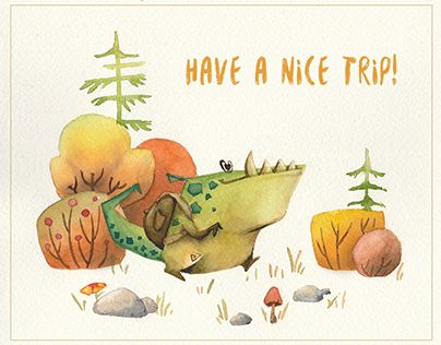"Check out new work on my @Behance portfolio: ""Trip postcards"" http://be.net/gallery/35967531/Trip-postcards"