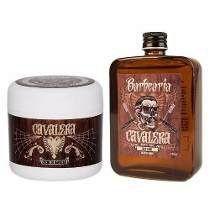 Kit Cavalera Creme De Barbear   Loção Pós Barba Bay Rum