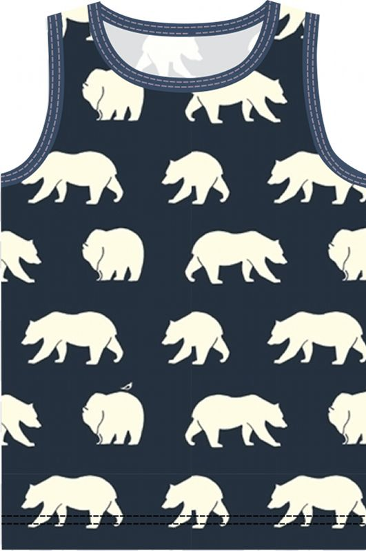 Materialien: * Jersey - Birch fabrics - Bear Camp (Breite: 112 cm) ( Tanktop) 50cm ( Größe 98 - 110 ) ...