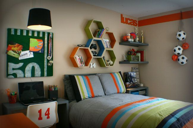 Teen Boy Bedroom makeover by Aaron Christensen for Today