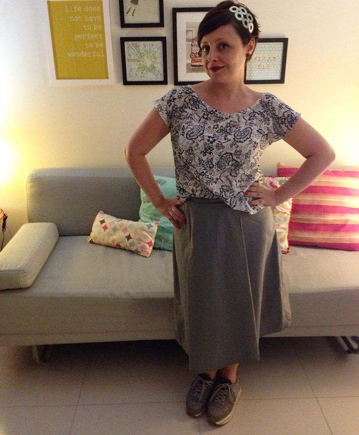 #memademay16 Day 10- Akita top #seamworkmag and Vivi Skirt #francinelacerdapatterns ✂️ #mmmay16 #handmadewardrobe #sewing #costura #lookdodia