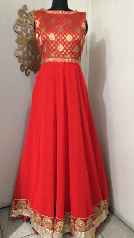 Floor length Anarkali dress