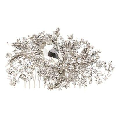 Swarovski Cluster Hair PieceOzsaleVB76-Silver