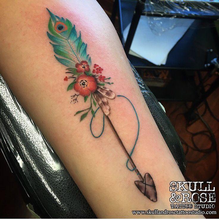 the 25 best feather arrow tattoo ideas on pinterest