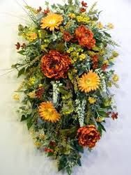 Image result for how to make a spring floral wreath centerpiece with organza