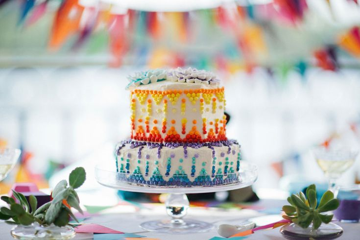 Who says a wedding cake should be white?