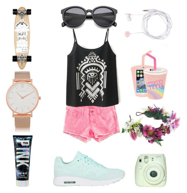 Sweet by kovacslilla on Polyvore featuring polyvore, fashion, style, H&M, NIKE, Larsson & Jennings, Rock 'N Rose, Skinnydip, Forever New and Isabel Marant