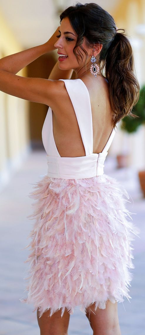 Pink Feather Skirt Holiday Style Inspo by 1sillaparamibolso