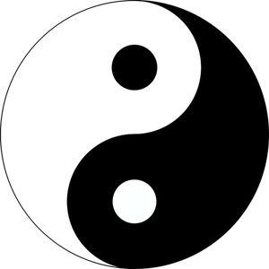 PublicDomainVectors.org-Vektorové ilustrace základního symbolu Jing-Jang