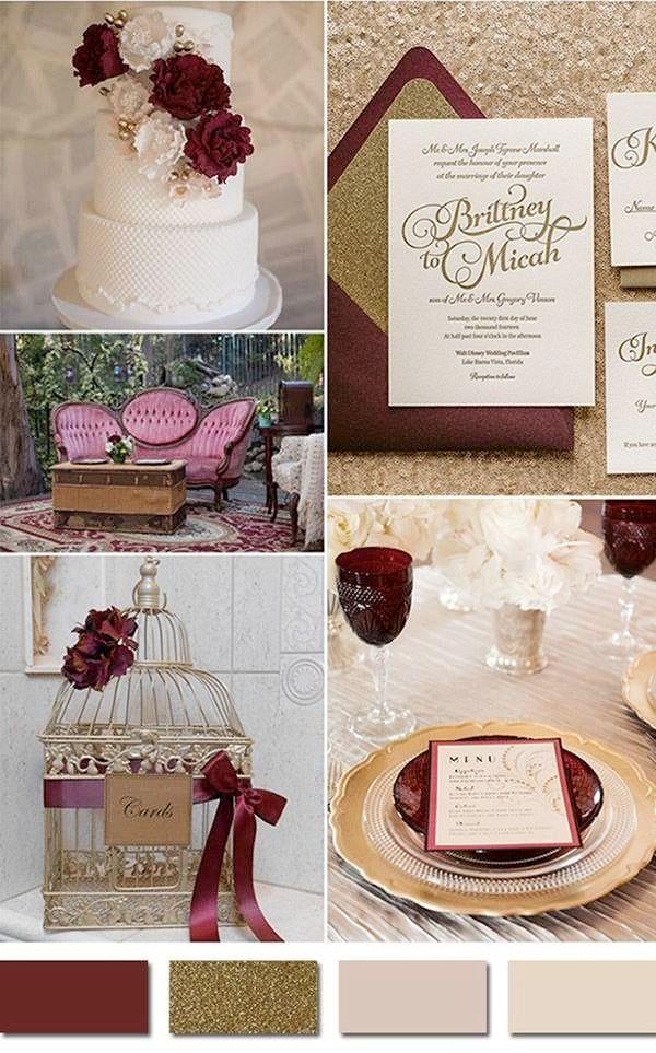 wedding palette gold, blush, dusty rose, wine - Google ...