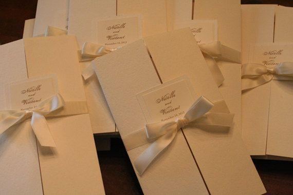 Wedding Program Book Ceremony Program Order of by FaithfulCrafter
