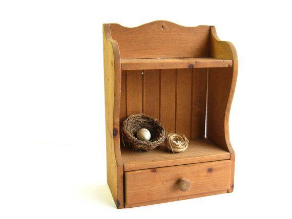 Vintage Wooden Wall Shelf Kitchen Shelf Wood Shelves
