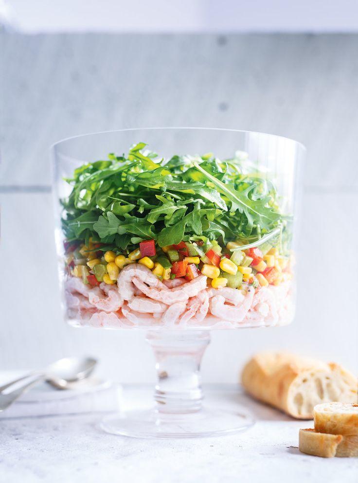 Recette de Ricardo de salade de crevettes nordiques et de maïs