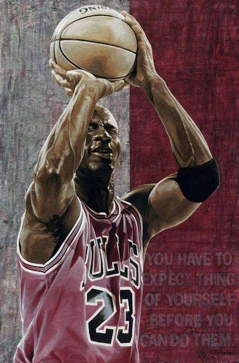 A Painting of JASON ROBICHAU : http://www.jasonrobichau.com/ #MichaelJordan…