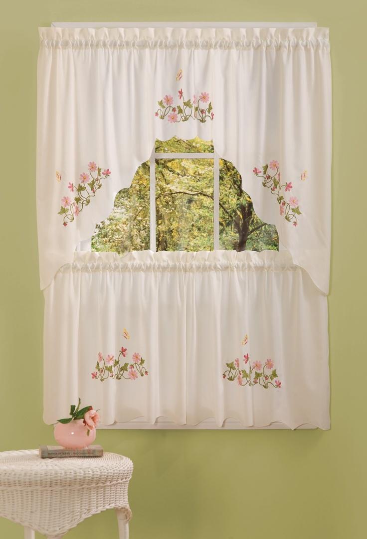 Molly emb kitchen curtain 58x36