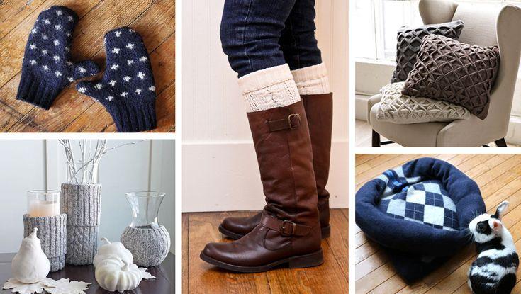Riutilizzare i maglioni di lana in 25 idee creative ...