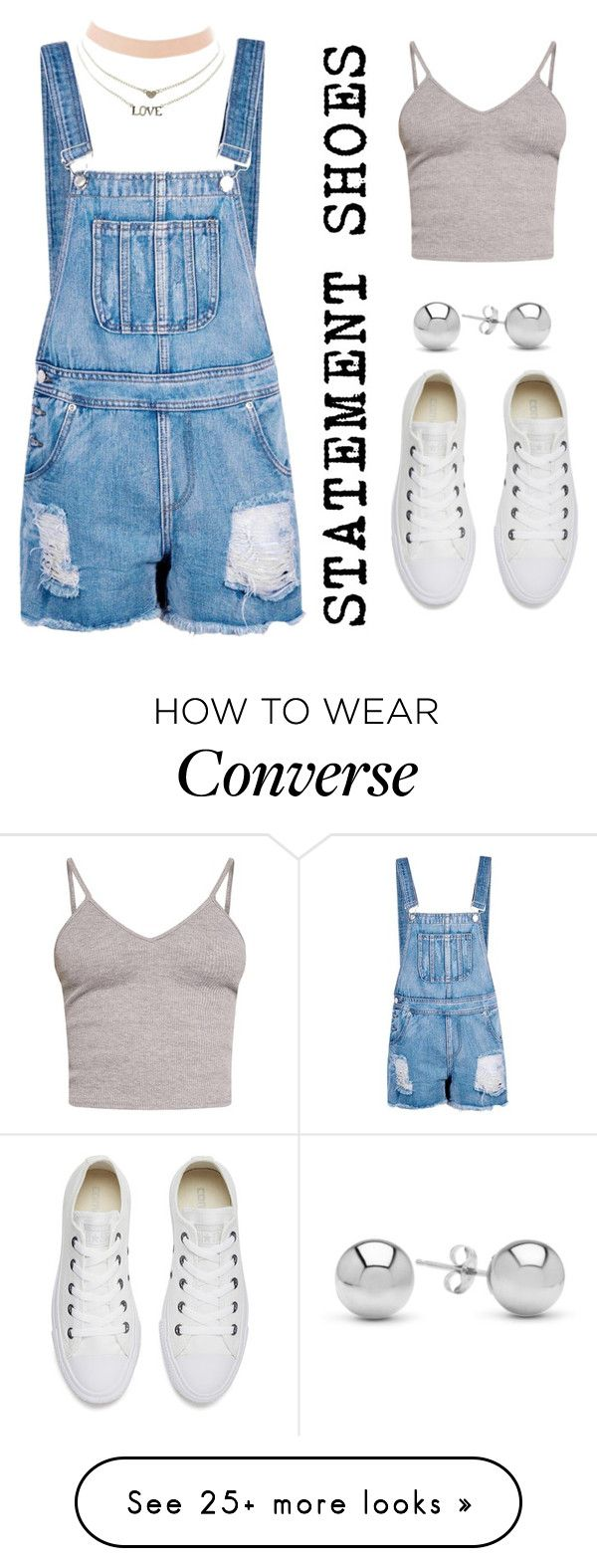 """""""Untitled #141"""" by danielleuhrle on Polyvore featuring BasicGrey, Boohoo, Charlotte Russe, Converse and Jewelonfire"""