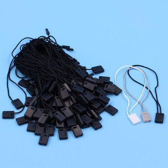 Grosir Gratis pengiriman 500 pcs panjang 18 cm tali segel, garmen hang tag tali/tali/tag segel hitam/putih/abu-abu Seal-001