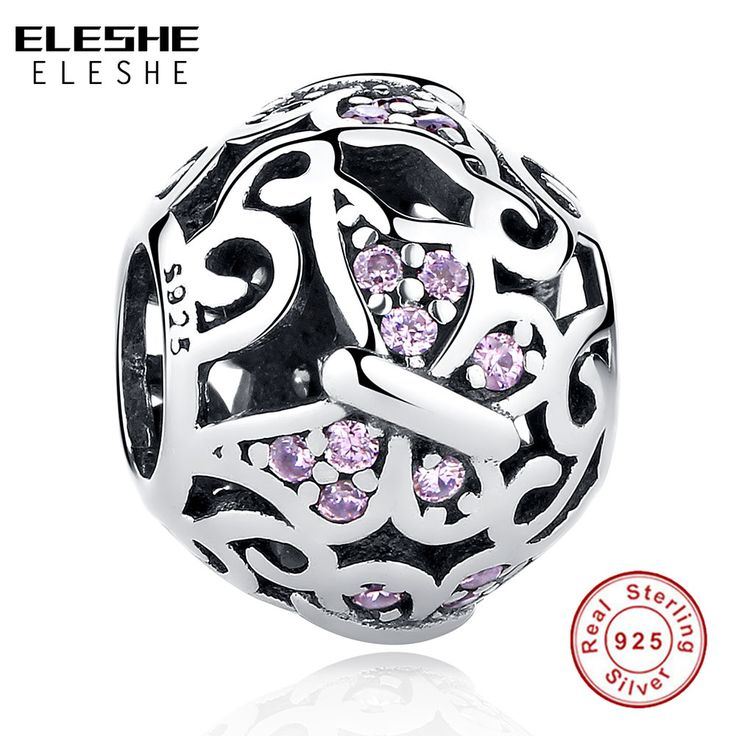 ELESHE Original 925 Sterling Silver Butterfly Animals Charms fit European Pandora Bracelets & Necklace Women Jewelry Accessories #Affiliate