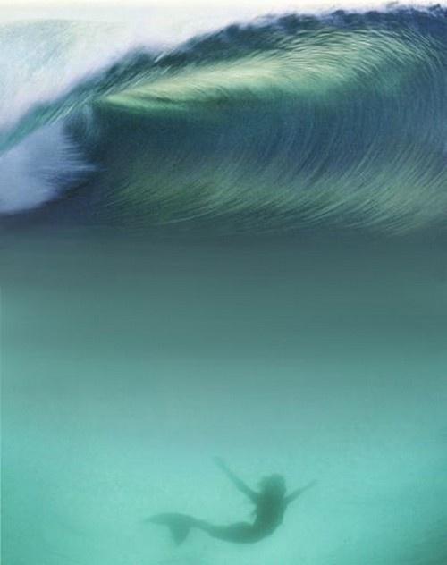 mermaid. Underneath the waves!