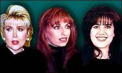 """Gennifer Flowers, Paula Jones and hearthrob Monica Lewinsky, three of the woman involved with Bill Clinton during his """"Bimbo Eruptions"""". To her credit, Paula Jones successfully sued Bill Clinton. There are many, many others, some too traumatized and/or afraid to talk about what happened when they """"encountered"""" Bill Clinton. He was ultimately impeached but remains an idol to all Democrats and continues to pose as husband to Hillary who continues to pose as wife to Bill."""