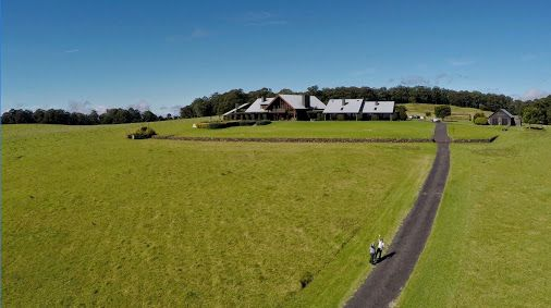 Filming aerials at Spicers Peak Lodge in Maryvale for Rindala & Dion's wedding. Perfect winter weather.