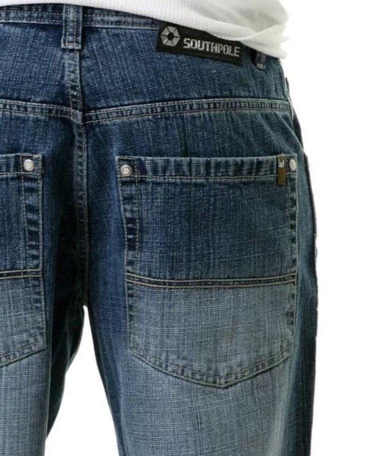 Mens South Pole 4180 Medium Blue Jeans Size 29x30    eBay