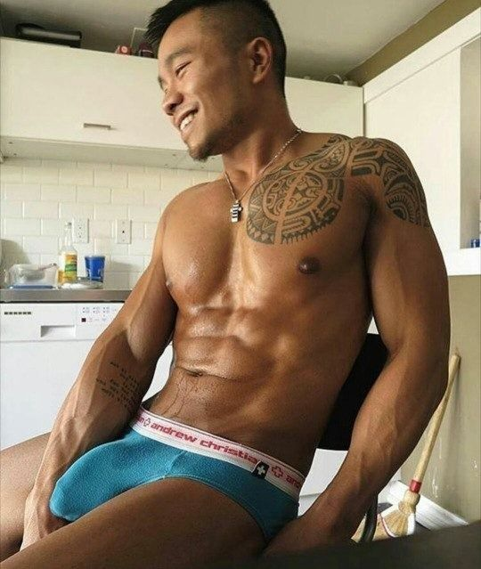 Muscular asian with big dick — photo 7