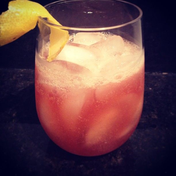 "4 Likes, 1 Comments - Lily S (@lilyszajn) on Instagram: ""Bourbon Renewal :: 2 oz bourbon, 1 oz fresh lemon juice, .5 oz simple syrup, .5oz creme de casis,…"""