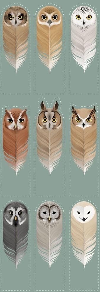 Owl bookmarks!!! So neat!