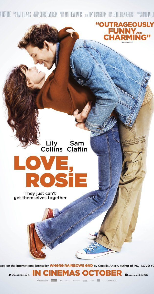 Directed by Christian Ditter.  With Lily Collins, Sam Claflin, Christian Cooke, Tamsin Egerton. Rosie and Alex have been best friends since they were 5, so they couldn't possibly be right for one another...or could they? When it comes to love, life and making the right choices, these two are their own worst enemies.