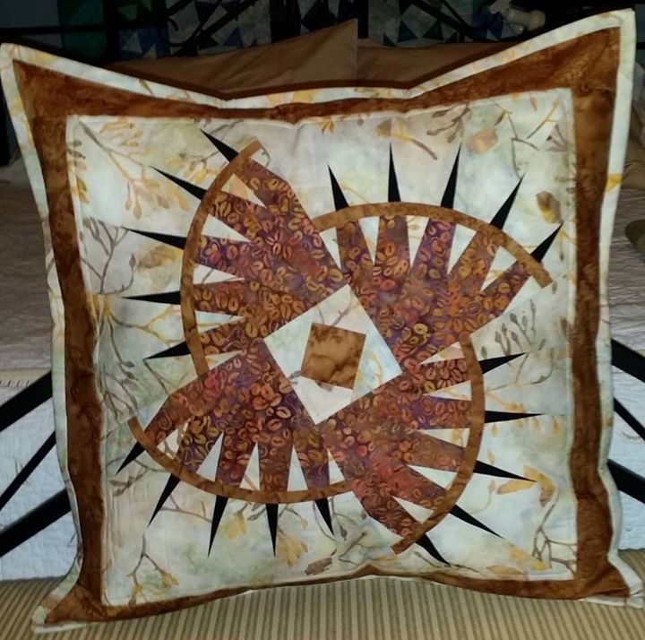 Rocky Mountain Bear Claw Pillow, Quiltworx.com, Made by CI Sandy Lueth