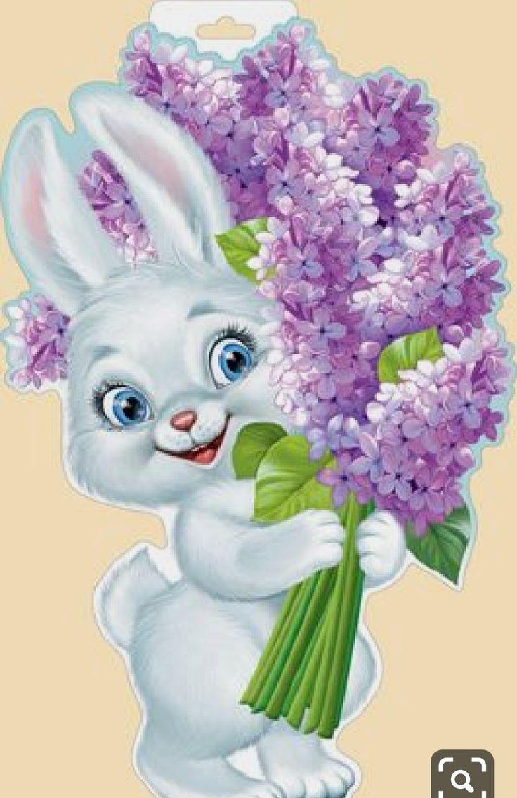 доход открытка заяц с букетом цветов правда, лучше подсчитывать