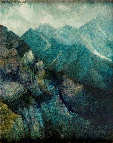 Obraz 632 Pejzaż z lodowym 2 by Jerzy Duda Gracz