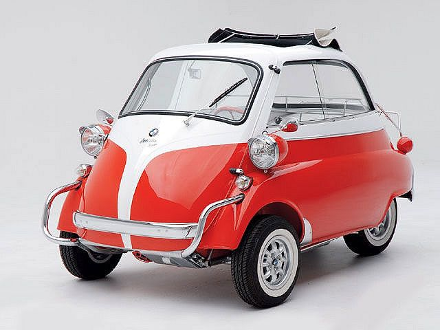 1957 Bmw Isetta 300. I passed on a pair of these a couple decades ago. Would have been utterly silly and they would probably still be laying around in parts, but still...