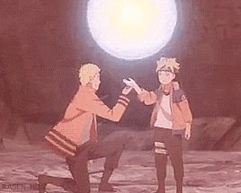 Wow, just wow!! This is epic! This looks to me like Naruto is teaching the Rasengan to Bolt.... And this could possibly be Bolts power level or a combo between Naruto and his... Or it's all Naruto's power and just showing Bolt how far you can get by hard work and determination....? Hmmm! I want it to be the last one! Cause Naruto is freaking amazing in strength and kindness! You're my hero Naruto!!