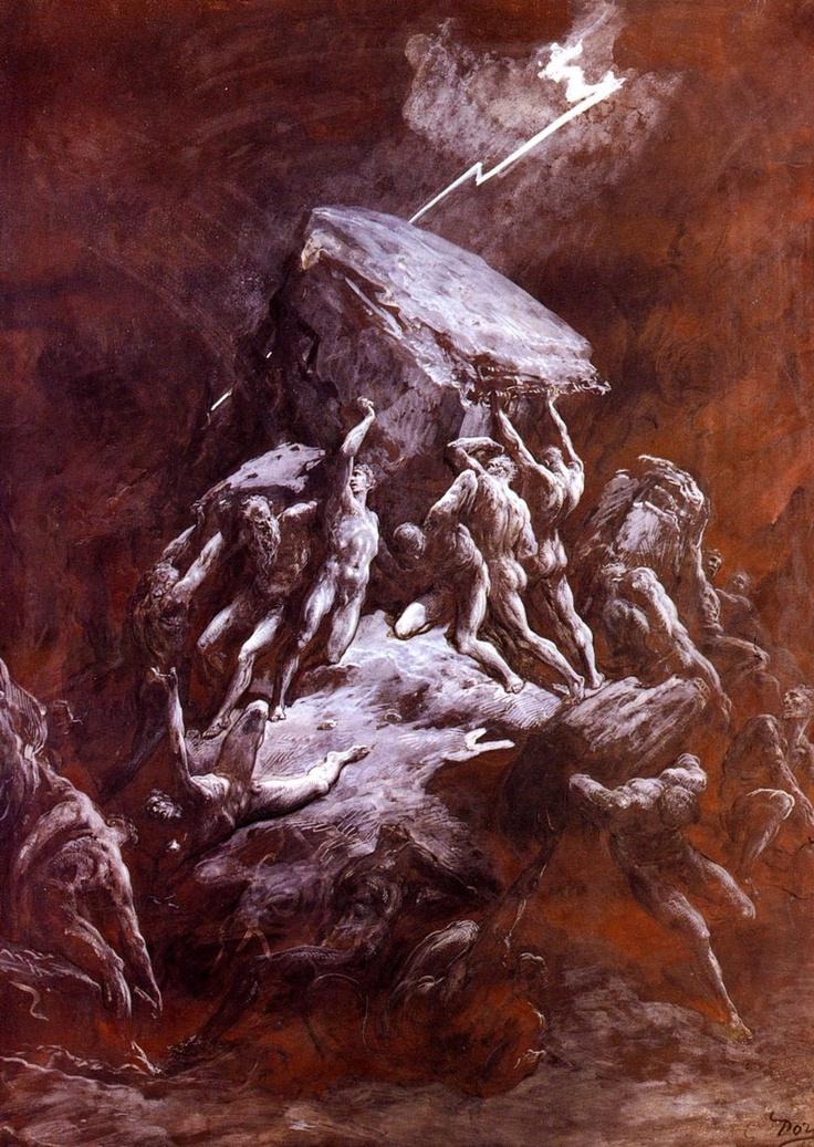 Clash of The Titans - Gustave Dore (1832-1883) 1866