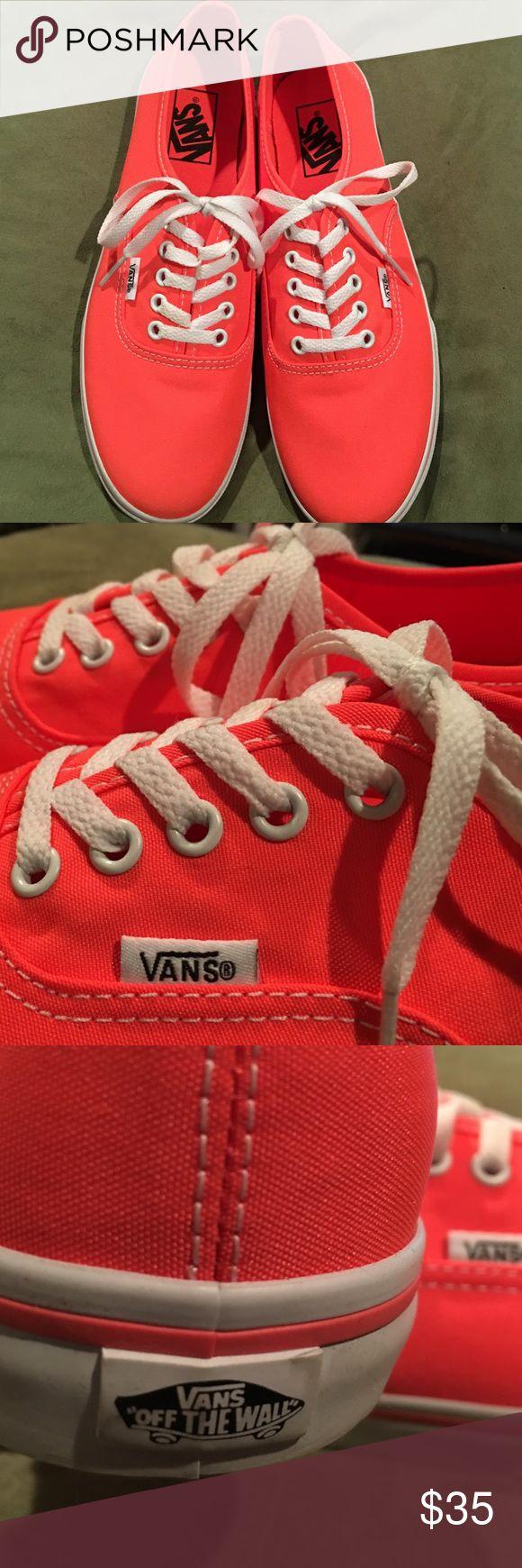Van's shoes NWOT never worn, Van's Women's, size 8.5, neon coral. Vans Shoes Sneakers