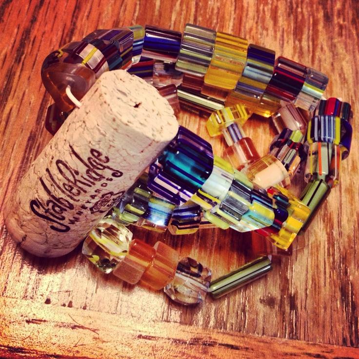 Wine cork bracelet $25.00