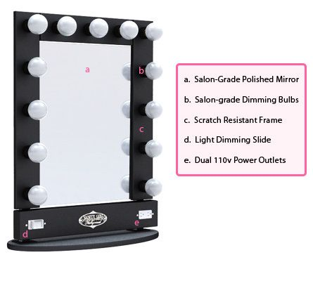 broadway lighted vanity mirror table top home pinterest