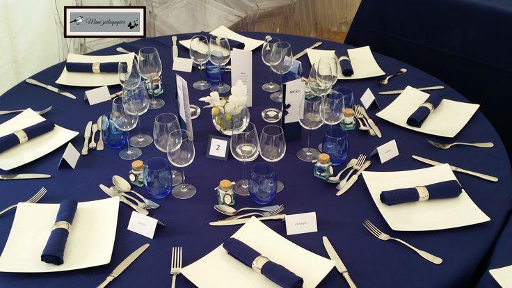 deco de table bleu marine