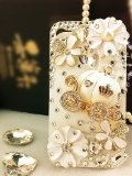 $16.99 3d Bling Crystal Cinderellas pumpkin cart stone case for iphone 4/4s best gift for girl