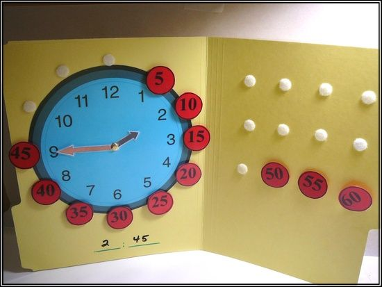 Math: Telling time activity file-folder | http://awesome-i-love-colorful-candies.blogspot.com