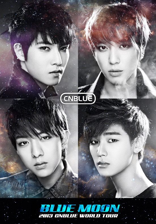 CNBLUE announces additional world tour dates + reveals poster for '2013 Blue Moon World Tour'