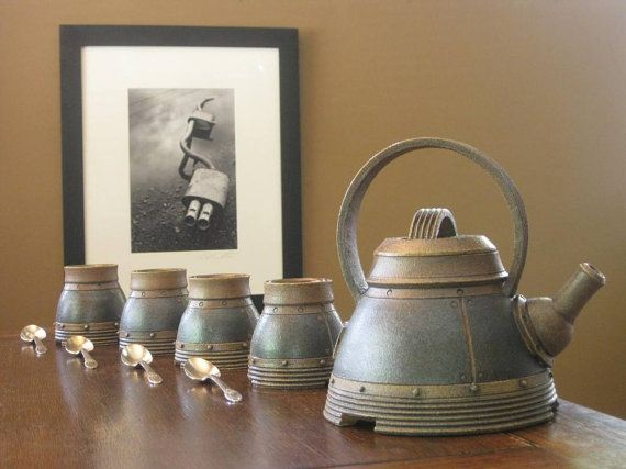 Industrial Tea Set by IndustrialSafari on Etsy